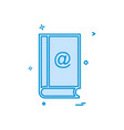 contact book icon design vector image