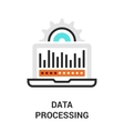 data processing icon vector image vector image