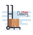 delivery service cart icon vector image