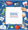 dental services banner and frame vector image