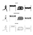 design of sport and winner icon set of vector image vector image