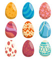 eggs painted happy easter celebration vector image