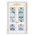 entrance door with exquisite ornamentation vector image vector image