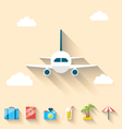Flat set icons of planning summer vacation simple vector image