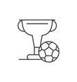 football cup line icon concept football cup vector image vector image