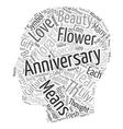 Fresh Flowers and Anniversary Flowers text vector image vector image