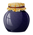 Glass jar with blueberry jam vector image vector image