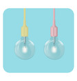 glowing light bulb shine vector image vector image