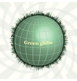 Green Planet Green Globe Eco design Pure Land vector image vector image