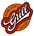 Grill hand lettering design vector | Price: 1 Credit (USD $1)
