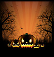 hallooween party card vector image vector image