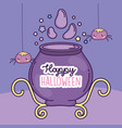 happy halloween celebration potion cauldron and vector image vector image