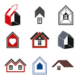 Houses abstract icons for use in advertising vector image vector image