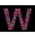 letter w valentine alphabet vector image vector image