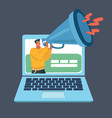 megaphone loudspeaker marketing announcement vector image