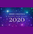 merry christmas and happy new year 2020 beautiful vector image vector image