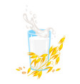 milk icon on white background vector image vector image