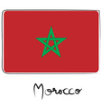 Morocco flag doodle vector image vector image