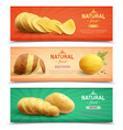 natural food realistic horizontal banners vector image vector image