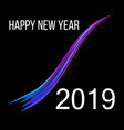 new year 2019 abstract background vector image vector image