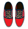 red and blue sports sneakers vector image vector image