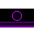 retrowave sci-fi purple laser perspective grid and vector image vector image