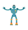 robot happy cyborg merry emotions robotic man vector image