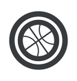 Round black basketball sign vector image vector image