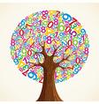 School education concept tree hand vector image vector image