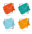 set grunge brush paint texture design vector image vector image