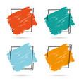 set grunge brush paint texture design vector image