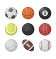 sports balls set basketball soccer vector image vector image