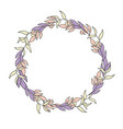 spring wreath of plants vector image