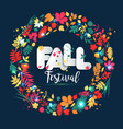 text autumn in paper style on multicolor vector image vector image