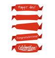 The collection of retro ribbons banners vector image vector image