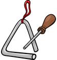 triangle percussion clip art cartoon vector image vector image