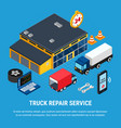 truck service concept vector image vector image