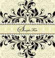 vintage invitation card with abstract floral backg vector image