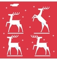 White deer silhouette logo icon new year symbol vector image vector image