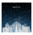 winter night in naples night city in flat style vector image vector image