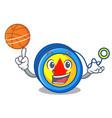 with basketball yoyo character cartoon style vector image