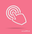 touch hand outline icon white color vector image