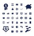37 economy icons vector image vector image