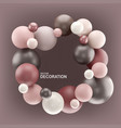 abstract background with 3d spheres frame with vector image vector image