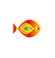 abstract colorful fishes together- graphic vector image
