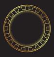antique greek style gold meander ornanent vector image vector image