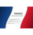 background with french flag and free space vector image vector image