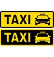 black and yellow taxi sign vector image vector image