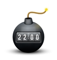 Black Bomb About To Blast with time counter vector image vector image