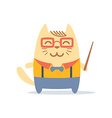 Character teacher in a business suit with